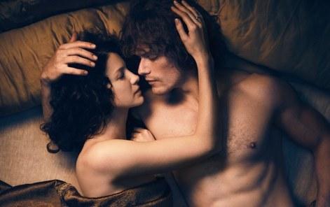 CaitrionaBalfe(ClaireRandallFraser)2cSamHeughan(JamieFraser)-OutlanderSeason3Reunion2